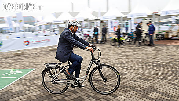 Riding an electric cycle is effortless