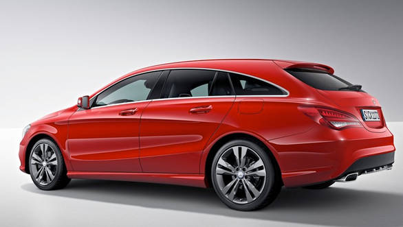 The taillights, though similar in layout to the CLA-Class' units, are larger and extend further into the bodywork