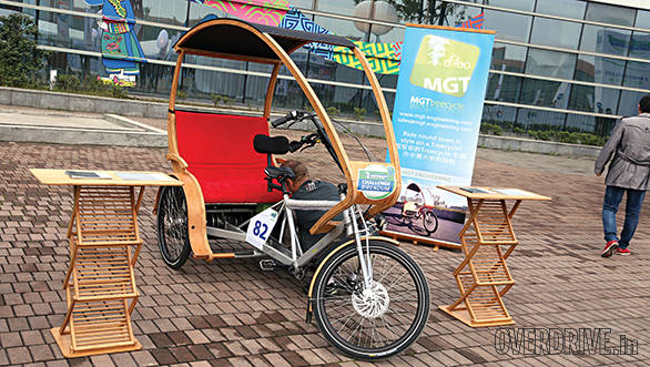 The bamboo tricycle made quite a few heads turn