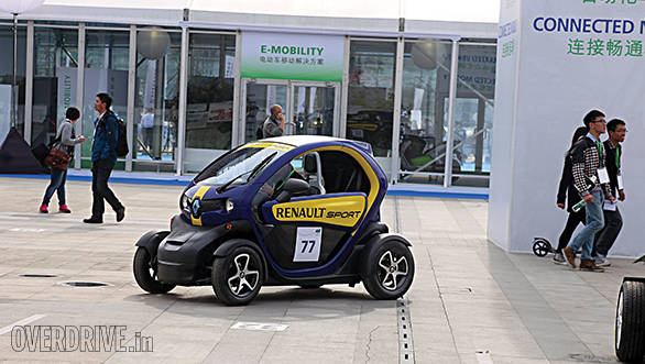 The largest electric car maker in the world, Renault, had all its models on display