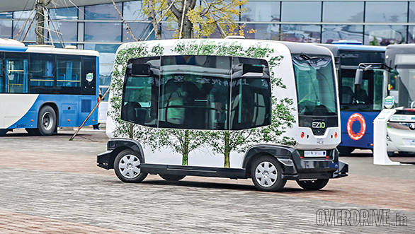 The EZ-10, an automated driverless bus worked brilliantly but had an altercation with a manned bus