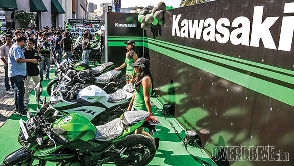 Kawasaki showed off the new Z250, ER-6n and Versys 1000 to the public for the first time