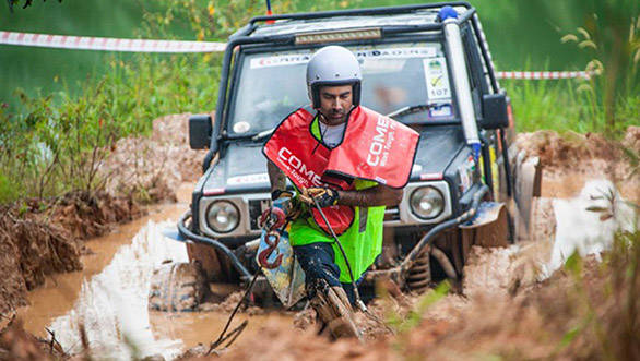 India's Gurmeet Virdi in action during the Prologue Special Stage of the Rainforest Challenge 2014 being held in Malaysia