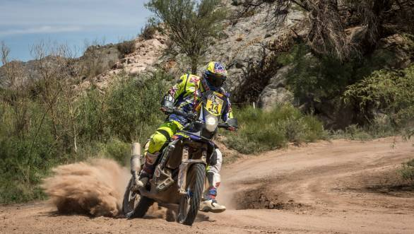 Duclos has taken Sherco TVS into the Top 10 at the halfway point of the 2015 Dakar