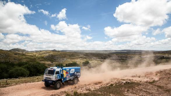 Second in the stage and third overall for Kamaz's Andrey Karginov so far at the 2015 Dakar Rally