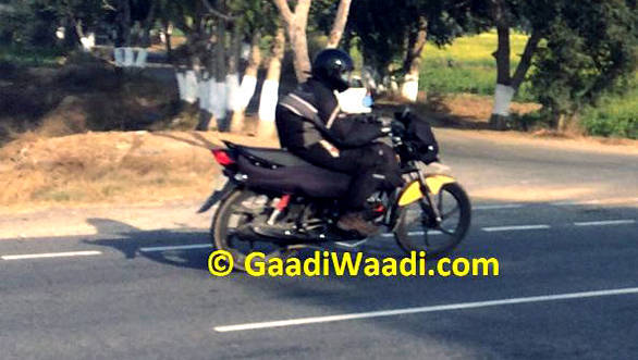 Spied: Hero MotoCorp's upcoming 100 -110cc motorcycle testing in India