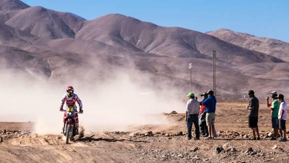 Joan Barreda Bort still leads the motorcycle class of the 2015 Dakar Rally