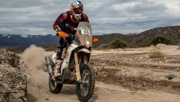 CS Santosh is currently ranked 36th overall in the motorcycle category of the 2015 Dakar