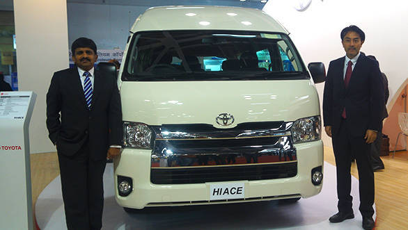 Toyota Hiace Luxury Passenger Vehicle Displayed In India Overdrive