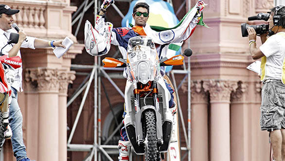 2015 Dakar Stage 1: Sherco TVS fifth; CS Santosh 85th
