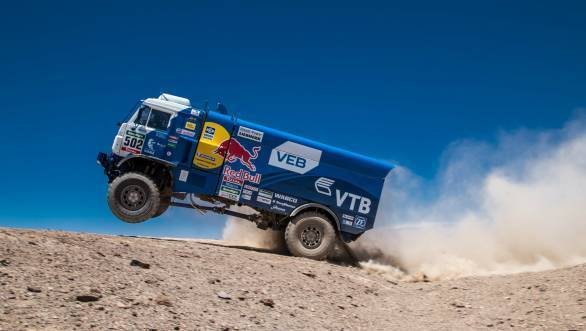 Kamaz all the way as Eduard Nikolaev leaps to the head of the standings in the truck category of the 2015 Dakar Rally