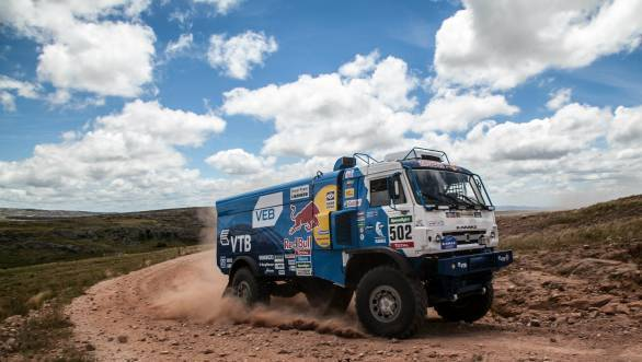 Win in the fourth stage puts Kamaz driver Eduard Nikolaev second in the truck class
