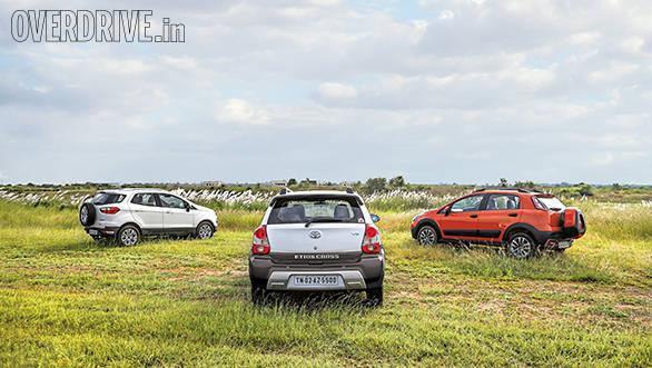 Ford EcoSport vs Fiat Avventura vs Toyota Etios Cross (8)