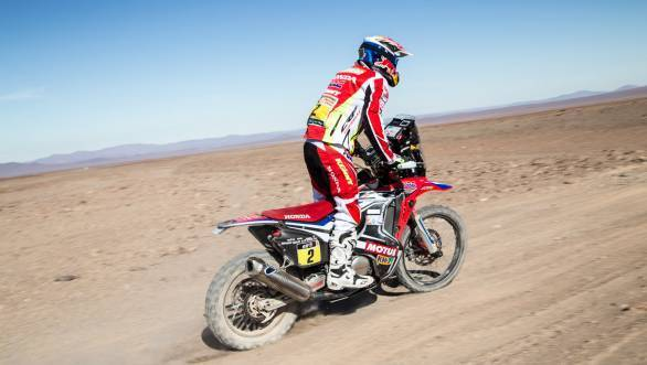 Joan Barreda Bort currently heads the motorcycle category of the 2015 Dakar Rally