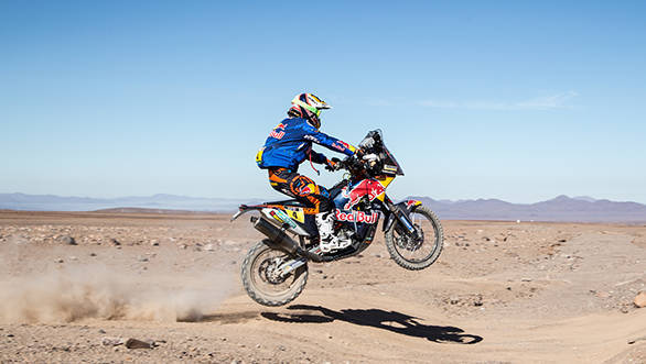 KTM rider Jordi Viladoms shot at the 2015 Dakar looks likely to be over, especially since he picked up a 40 minute penalty for missing a way point on Stage 6 of the event