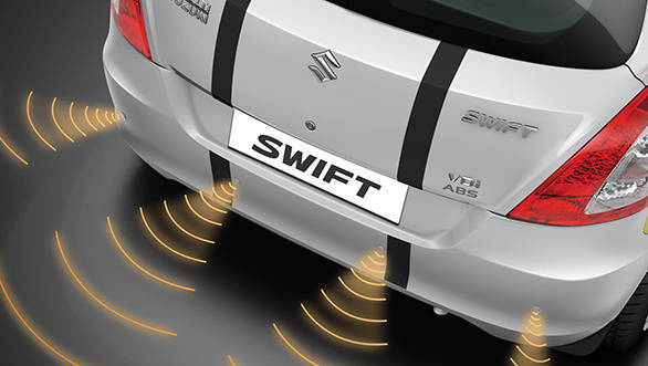 The rear parking sensors with display on the touchscreen Sony music system will be a boon while parking the Swift