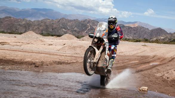 Austrian rider and Dakar debutant Matthias Walkner made a mark by taking the win in Stage 3 of the Dakar 2015
