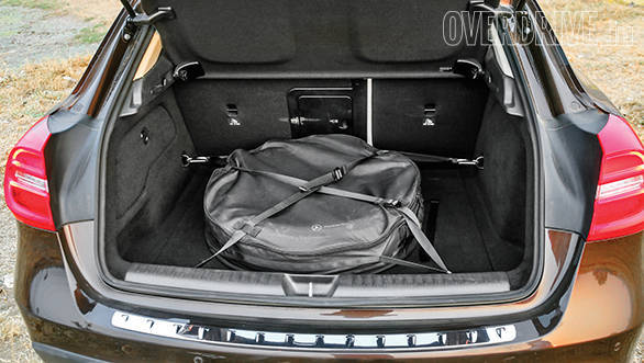 Space saver in the GLA eats into boot space