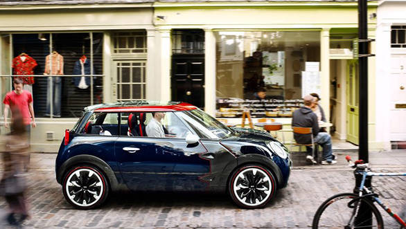 The Mini Rocketman Concept that was shown at the 2011 Geneva Motor Show