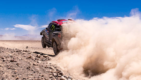 Defending champion Nani Roma's Dakar hopes are over, but he's still leaving the dust in his wake as he tries hard to notch a few stage wins along the way to the finish.