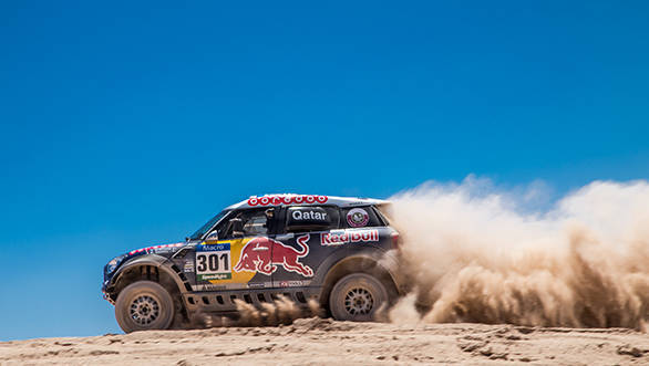 Nasser Al-Attiyah heads the car category of the event in his Mini, trying hard to hunt down his second Dakar victory. The Qatar Rally Team driver has taken three wins of six stages.