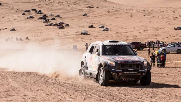 Overall leader in the car category is Nasser Al-Attiyah