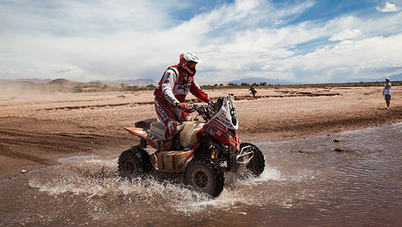 Rafal Sonik is back in the lead in the quad class