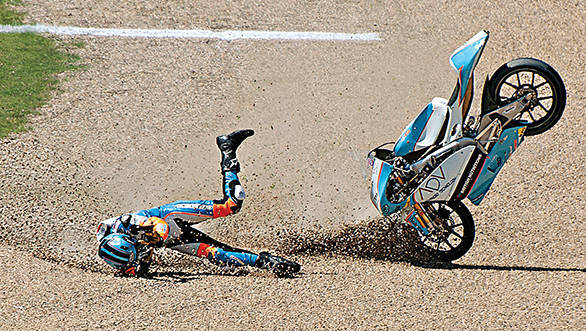 What fear means to the motorcycle racer. . .