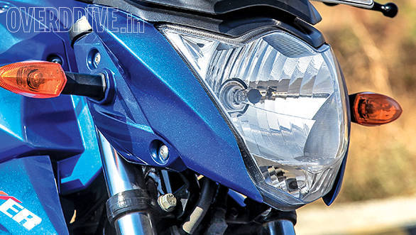 The Gixxer up close can look busy but it is extremely well-made and finished