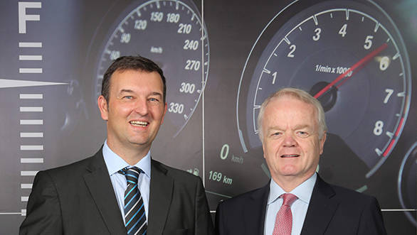 (R - L) Mr. Philipp von Sahr, President, BMW Group India with Mr. Robert Frittrang, MD, BMW Plant Chennai (4)
