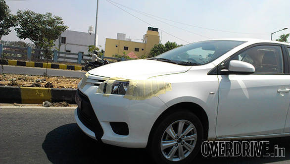 Spied: Toyota Vios testing in India