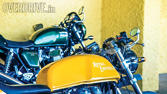Triumph Thruxton vs Hero Splendor Pro Classic vs Royal Enfield Continental GT (19)