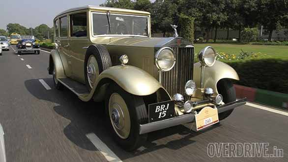A 1936 Rolls-Royce Phantom III dominating the streets of Delhi