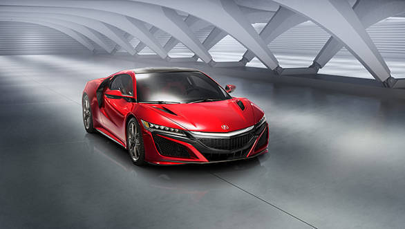 The exterior of the new Honda NSX represents superlative attention to balancing exotic sports car form and supercar function