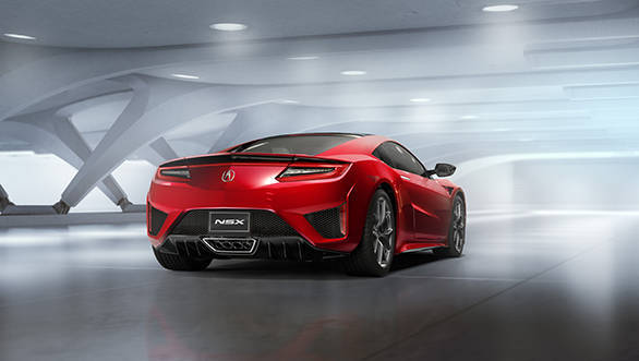 The NSX body utilises a space-frame design – an internal frame constructed of aluminium, ultra-high strength steel and other advanced materials.