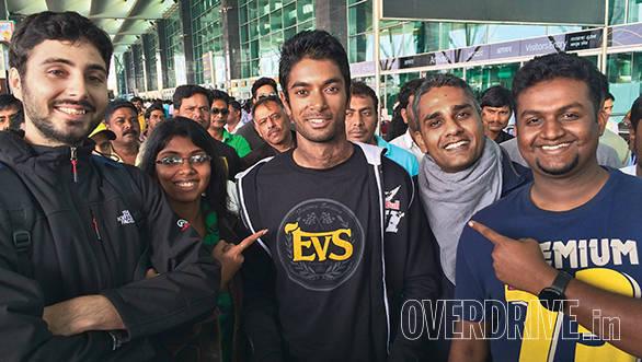 CS Santosh with team OD