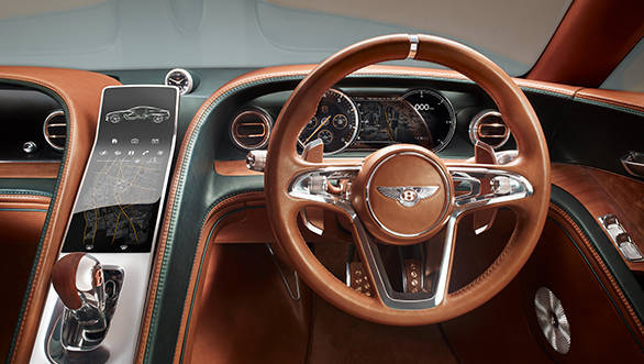 The narrow centre console which houses exquisite driver controls and a highly intuitive 12
