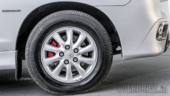 15-inch wheels look elegant  on the Innova and have recently been updated to a sporty design
