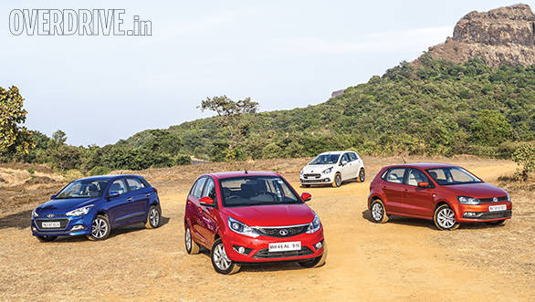 Comparison: Tata Bolt vs Hyundai Elite i20 vs Fiat Punto Evo vs Volkswagen Polo