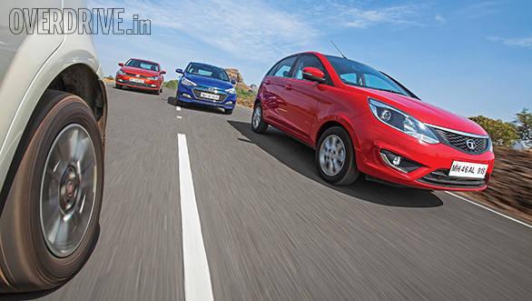 Tata Bolt vs Hyundai Elite i20 vs Fiat Punto Evo vs Volkswagen Polo (8)