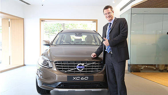 Tomas Ernberg, Managing Director, Volvo Auto Indiawith Volvo XC 60