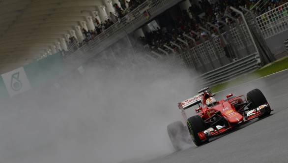 Vettel was second during the rain-soaked qualifying session at Malaysia - a grid position that was enough to see him safely through to victory during Sunday's race