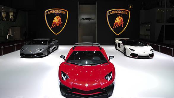 2015 Shanghai Auto Show - Lamborghini Booth