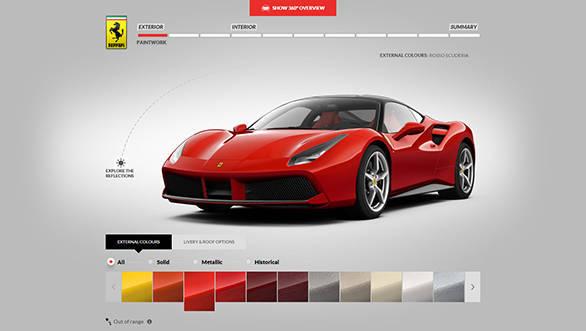 Car Configurator Ferrari Game