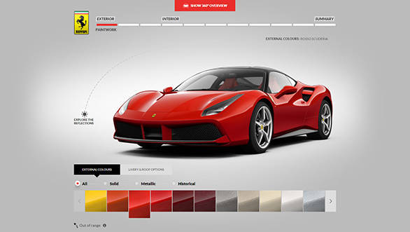Ferrari 488 GTP configurator 2