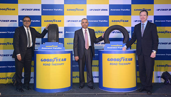 L to R-Goodyear's PK Walia, Rajeev Anand and Mike Rytokoski launch Assur... (1)