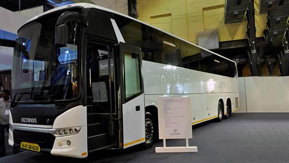 Busworld 2015: Scania displays ethanol engine and Metrolink bus