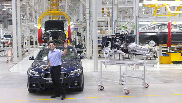 03a Sachin Tendulkar at BMW Plant Chennai