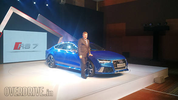 Audi India head, Joe King with the new RS 7 Sportback