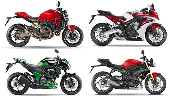 Spec comparison: Kawasaki Z800 vs Triumph Street Triple vs Ducati Monster 821 vs Honda CBR650F